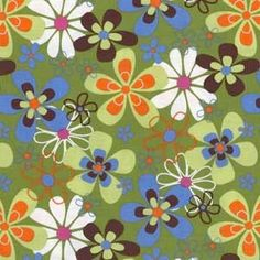 Michael Miller Cotton Fabric CX 3372 Far Out Floral-Olive by HouseOfJdawn on Etsy