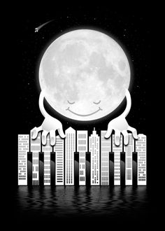 Moon playing the piano. Piano Art, Piano Music, Drawing Piano, Mundo Musical, Music Illustration, Sun And Stars, Music Humor, Chant, Design Graphique
