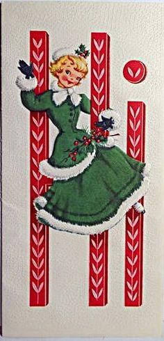 Christmas card. 1950s.