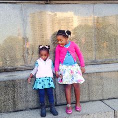 Jaiden Rae and Dehstinie posing for a picture in the parkway...