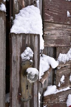 The snowy shed out back. and some snow stories - Funky Junk Interiors I Love Snow, I Love Winter, Winter Snow, Winter Colors, God Is Amazing, Rough Wood, Funky Junk Interiors, Winter Cabin, Winter's Tale