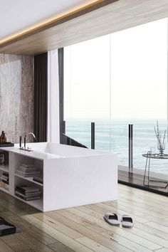 amazing bathroom with a view designed by Valkyrie Studio