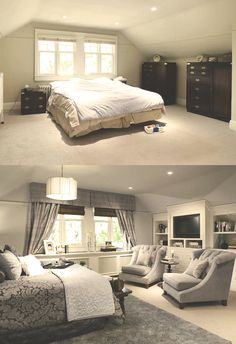 Attic Master Bedroom Inspiration 37 – Furniture Inspiration Source by kkrynski - Attic Master Bedroom, Master Bedroom Design, Home Bedroom, Bedroom Decor, Bedroom Furniture, Bedroom Designs, Bedroom Ideas, Home Renovation, Home Remodeling