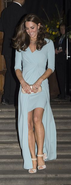 Remember when Kate Middleton stepped out in a sexy blue gown. Did the Queen approve?