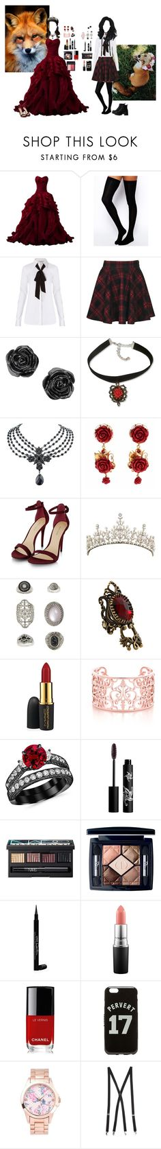 """""""Reboot: Fox"""" by regigigas ❤ liked on Polyvore featuring ASOS, Diane Von Furstenberg, Boohoo, 1928, Dolce&Gabbana, Topshop, Lucky Brand, MAC Cosmetics, Rouge Bunny Rouge and NARS Cosmetics"""