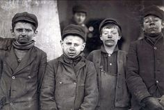 30 Shocking Photos Of Child Labor Between 1908 And Date: January 1911 Location: Pittston, Pennsylvania Breaker boys (their job was to separate impurities from coal by hand) at the Hughestown Borough Pennsylvania Coal Company.