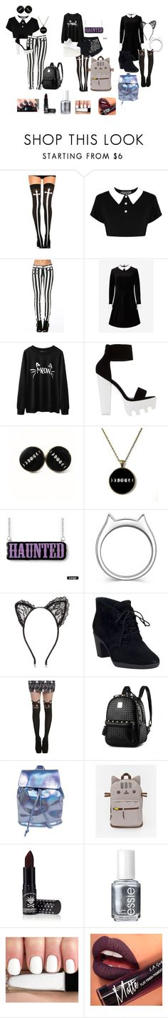 """""""Pastel goth"""" by dark-star123 ❤ liked on Polyvore featuring Chicnova Fashion, Levi's, Ted Baker, kiz&Co., River Island, Clarks, Manic Panic, Essie and Fiebiger"""