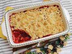 Ala piecze i gotuje: Crumble z truskawkami i rabarbarem