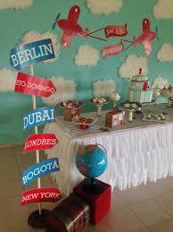 Image result for centros de mesa para cumpleaños CON MOTIVOS DE AVION