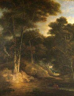 The Athenaeum - Landscape - Edge of a Wood (John Crome - )