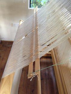Dressing a loom.
