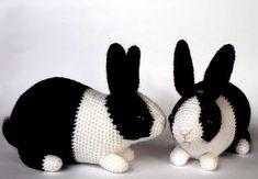 Crochet Bunny, Crochet Home, Crochet Animals, Knit Crochet, Animal Knitting Patterns, Crochet Patterns Amigurumi, Crochet Designs, Handmade Toys, Fiber Art