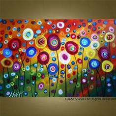 CUSTOM Dancing Poppies Original Modern Abstract by fineartsale - great ...