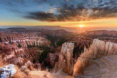 Rim Hikes sunset