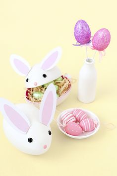 DIY treat-filled easter bunnies