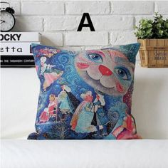 Creative cute Cat decorative pillow for Couch Abstract style cushions