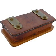 French leather box