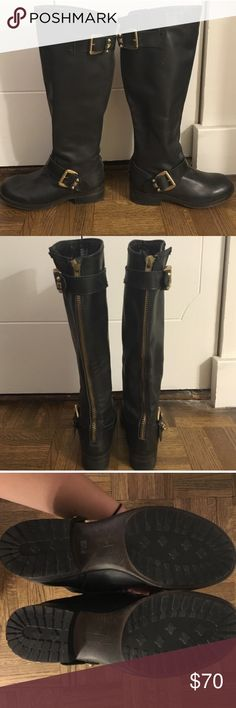 Steve Madden boots Worn once. Good as new! Steve Madden Shoes Heeled Boots