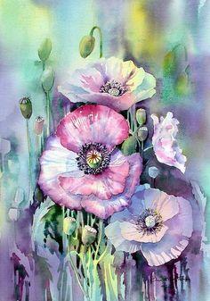 100幅特別NB的水彩花卉