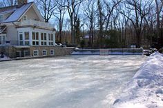 Pat Lafontaine's backyard rink.. reminds me of the rink we had had in our backyard.... a LOT smaller though