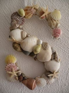 "Trey and I are celebrating our 2 year anniversary next month at Hilton Head, what a cute idea it would be to collect shells from our trip and hot glue them to a ""c"" and write our anniversary date and trip in the back! Must remember this."