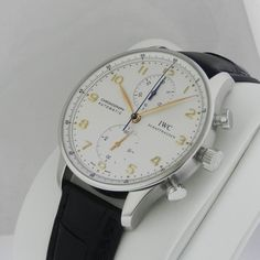 IWC Portuguese Automatic Chronograph IW371445 Silver Dial B&P New Ret: $7,900