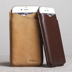 Original D-park V-neck Universal Cellphone Leather Pouch Case For 4.7 inch or less Smartphone iPod