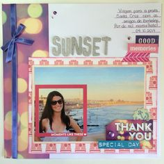 Scrapbook layout: sunset