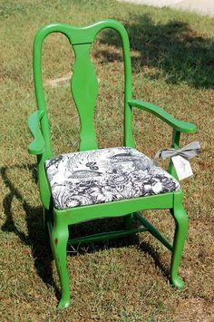 Beachnut Lane: green chair
