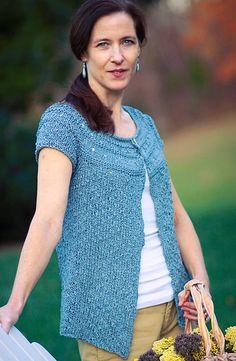 Top down cardi for warm weather --Raindrop Cardi on Knitty