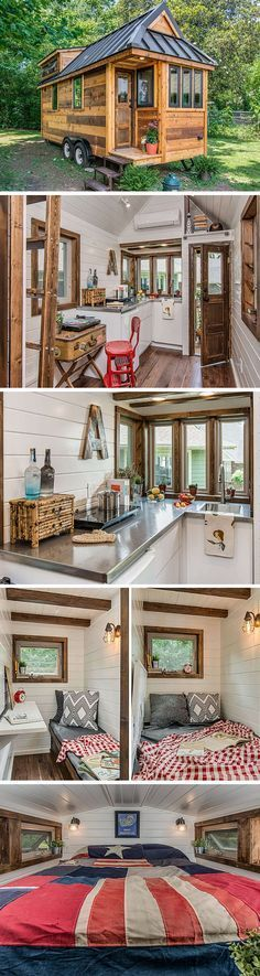 A luxe tiny house with a home office that can be converted into a second/guest bedroom.