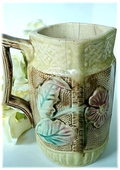 Antique Majolica Art Pottery Pitcher Circa 1880