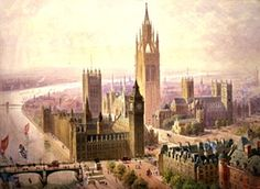 Design for an Imperial Monumental Halls and Tower, Westminster At the turn of the 20th century, people thought Westminster Abbey was too cluttered with monuments. This 1904 design was supposed to house them all. The tower would have been the tallest building in the UK