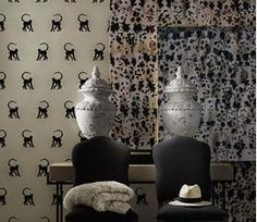 Discover our wide range of unique wallpapers perfect for feature walls or the whole room. Monkey Wallpaper, Feature Walls, Unique Wallpaper, Room, Prints, Bath, Design, Home Decor, Bedroom