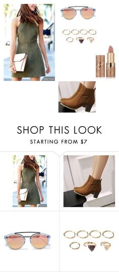 """Green girl"" by kkmahony ❤ liked on Polyvore featuring JY Shoes, Westward Leaning, Forever 21 and tarte"