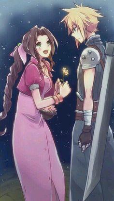 Aerith and Cloud Kingdom hearts 2