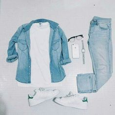 W/o the jean shirt
