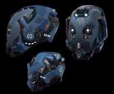 Sci Fi Helmet Final Render by on DeviantArt Eva Foam Armor, Futuristic Helmet, Sci Fi Armor, Robots For Kids, Robot Concept Art, Cool Masks, Suit Of Armor, Helmet Design, Face Design