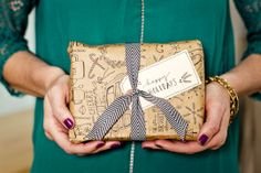 Handmade Holidays: Courtney's Hand-Drawn Wrapping Paper