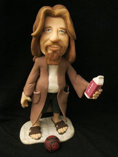 The Dude from the Big Lebowski polymer clay by FiendishThingies