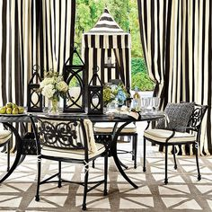 Find outdoor furniture to celebrate friends and family with! Transform your patio into paradise with outdoor furniture from Ballard Designs. Indoor Outdoor Rugs, Outdoor Rooms, Porches, Spray Paint Furniture, Painting Furniture, Used Outdoor Furniture, Chair Planter, My Pool, Pergola Designs