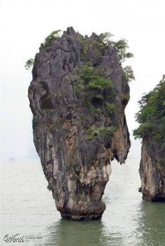 """Strange Pictures Formed Naturally. Have you ever heard the song, """"A man is an island?"""" Well, this proves it! : )"""