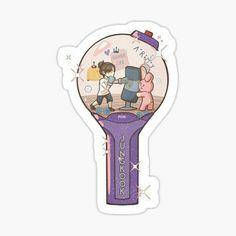 Stickers Kawaii, Pop Stickers, Anime Stickers, Printable Stickers, Bts Drawings, Kawaii Drawings, Theme Bts, Bts Army Bomb, Korean Stickers