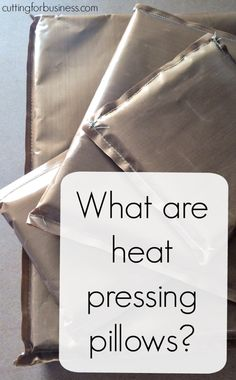 Tutorial: How to Use Pressing Pillows in Your Heat Press - Great for Silhouette or Cricut crafters - by cuttingforbusiness.com