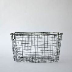 Image of wire textile basket