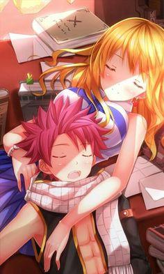Natsu and lucy so cute
