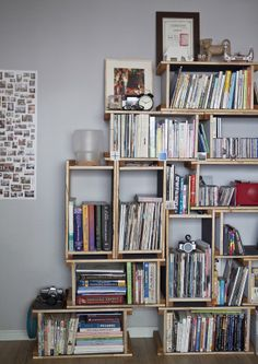 DIY wall storage unit built to save on floor space