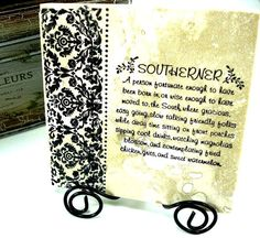 Southerner Sayings by mydecor8 on Etsy, $9.95