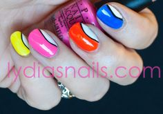 Lydia's Nails: OPI Neon Revolution with some Nail Art!