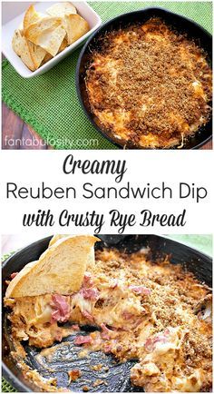 OMG!!! Creamy Reuben Sandwich Dip. This is the perfect appetizer for super bowl, or any party. http://fantabulosity.com